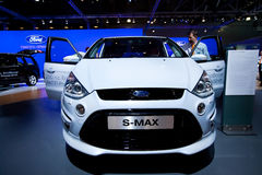 White Ford C-Max Royalty Free Stock Photo