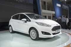 White ford fiesta car Stock Image