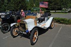 White Ford Model T Stock Image