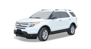 White Ford SUV. Profile of white Ford SUV on white royalty free stock photography
