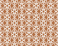 White Forged Lacing Seamless pattern on brown Stock Photo