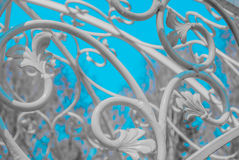 White forged plant ornament Stock Photography