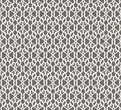 White Forged Seamless Pattern on grey background Royalty Free Stock Photos