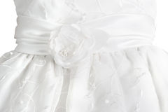 White formal dress detail Royalty Free Stock Images