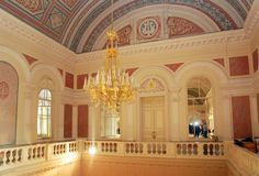 White foyer of Bolshoi theatre Stock Photography