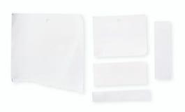 white för blankt papper Arkivfoto
