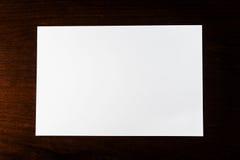 white för blankt papper Royaltyfria Bilder