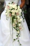 white för bukettorchidbröllop Arkivbilder