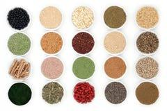 white för studio för makro för hälsa för mat för bakgrundshavreflakes Fotografering för Bildbyråer