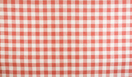 white för tablecloth för ginghammodell röd Royaltyfria Foton