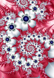 White fractal flowers Royalty Free Stock Photography