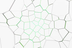 White fractured surface with colored glowing lines Royalty Free Stock Images