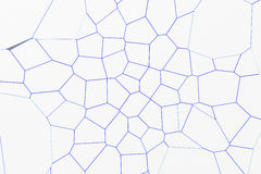 White fractured surface with colored glowing lines Royalty Free Stock Photography