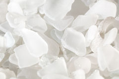 White Fragments of Beach Glass Royalty Free Stock Photos