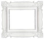 White frame. Isolated on white background royalty free stock image