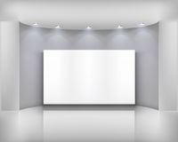 White frame. Interior with white frame. Vector illustration Stock Photos