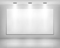 White frame in art gallery Stock Image