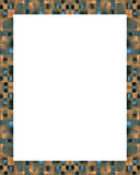 White Frame Background with Decorated Borders Royalty Free Stock Photos