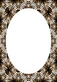 White Frame Background with Decorative Rounded Borders