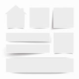 White Frame Banners House. White frame banners with house on the white background Stock Images