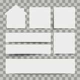 White Frame Banners House Transparent. White frame banners with house on the checked background Royalty Free Stock Photo