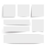 White Frame Banners. With shadows on the white background Royalty Free Stock Photography