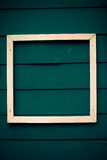 White frame on blue board antique style Stock Images