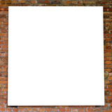 White frame on brick wall Stock Image