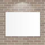 White Frame on Brick Wall Vector Illustration Background Stock Photos