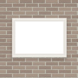 White Frame on Brick Wall Vector Illustration Background Royalty Free Stock Photos