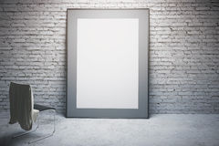 White frame and chair Stock Images