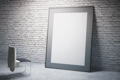 White frame and chair side Royalty Free Stock Photography