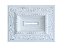 White frame of the classical style Stock Photo