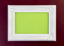White Frame on dark red Royalty Free Stock Photography