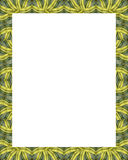 White Frame with Decorated Borders Stock Photos