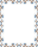 White Frame with Decorated Borders Stock Image