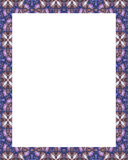 White Frame with Decorated Borders Royalty Free Stock Photography