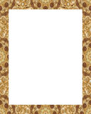 White Frame with Decorated Borders Stock Images