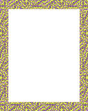 White Frame with Decorated Ornate Borders Stock Image