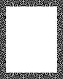 White Frame with Decorated Tribal Design Borders Stock Photography