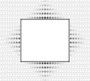White frame with dots Stock Image
