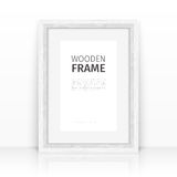 White Frame on a Glossy Surface Stock Photos