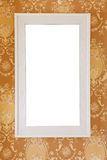 White frame on gold background Royalty Free Stock Photo