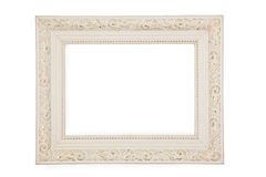 White frame with gold pattern Stock Images