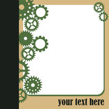 White frame and green gears Stock Image