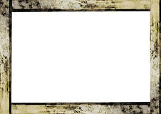 White Frame with Grunge Borders. White frame background with grunge design borders Stock Photos