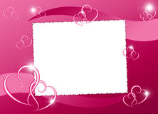 White frame with heart. On the abstract background Royalty Free Stock Photo
