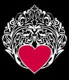 White frame with heart vector illustration