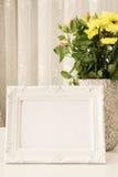 White Frame Mock Ups, Digital MockUp, Display Mockup, Sea Styled Stock Photography Mockup, Colorful Desktop Mock Up. Rustic Vase W Royalty Free Stock Images
