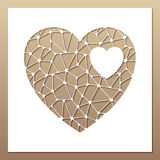 White frame with openwork heart inside. Stock Images